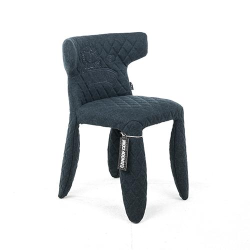 moooi monster armchair divina melange blauw borduursel
