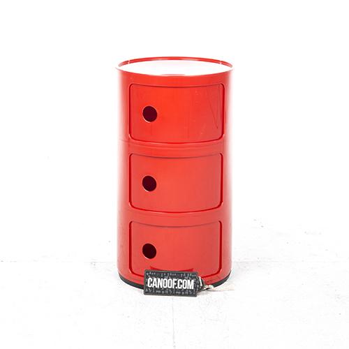 kartell componibili kastje rood