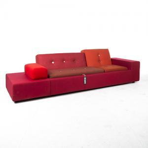 vitra polder sofa xl rood