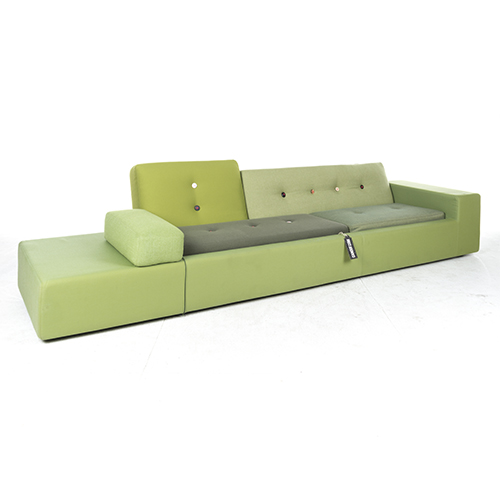 vitra polder sofa xxl kleur groen 330cm breed. Black Bedroom Furniture Sets. Home Design Ideas