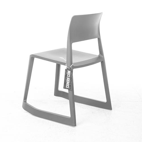vitra tip ton stoel uitvoering grijs kunststof. Black Bedroom Furniture Sets. Home Design Ideas