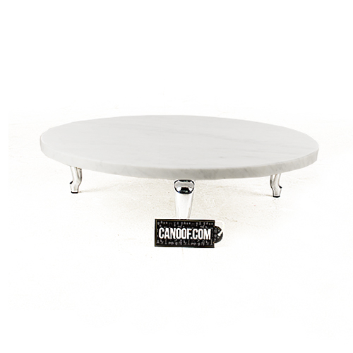 moooi bassotti coffee table rond wit laag