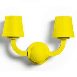 moooi paper wall lamp geel