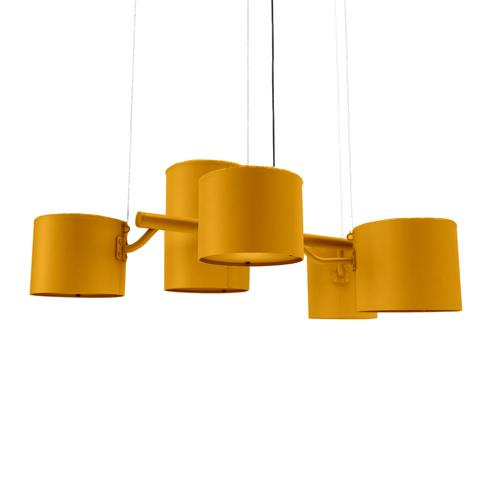 moooi statistocrat hanglamp geel