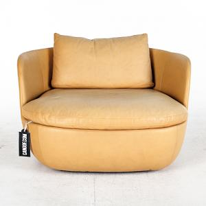 moooi bart armchair swivel cognac