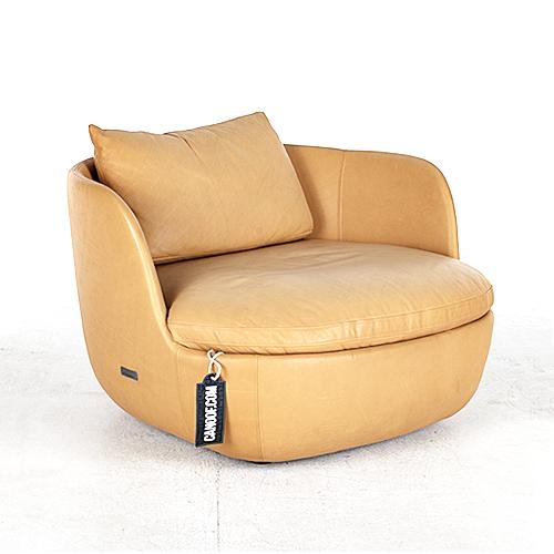moooi bart armchair swivel cognac