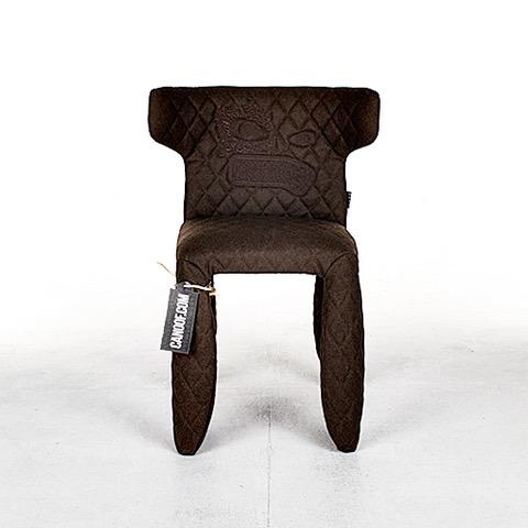 Moooi Monster armchair borduursel divina melange bruin