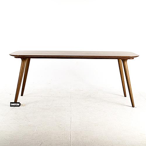 moooi zio dining table kaneel gebeitst