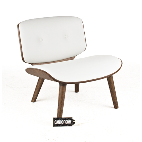 moooi nut lounge chair wit leder