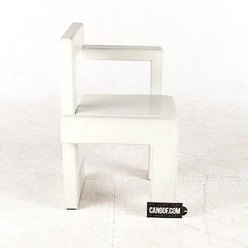 rietveld steltman stoel leder wit