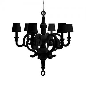paper chandelier XL zwart