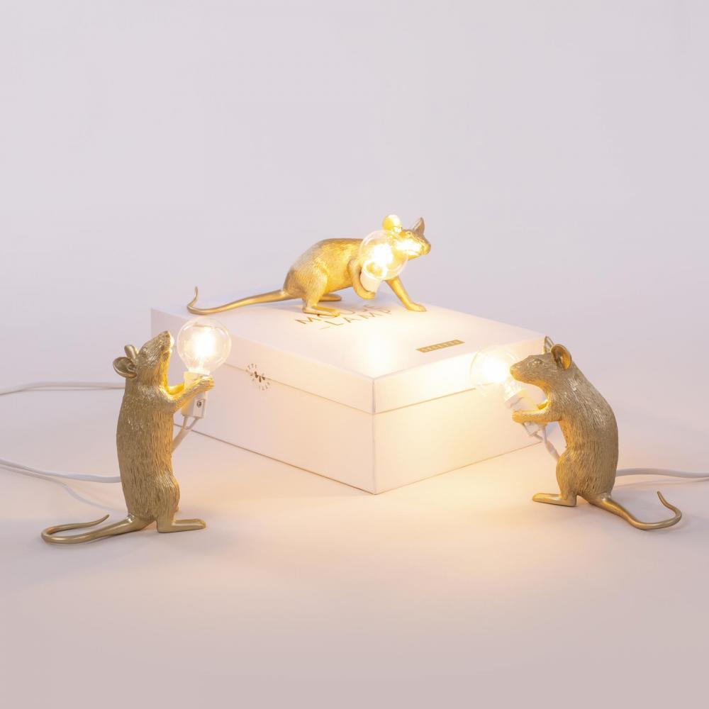seletti muis lamp goud