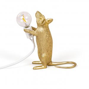 seletti muis lamp goud staand
