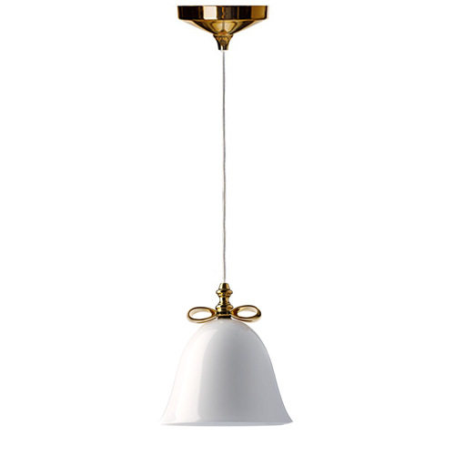 moooi bell lamp small gold white