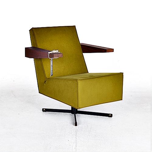 spectrum press room chair groen geel