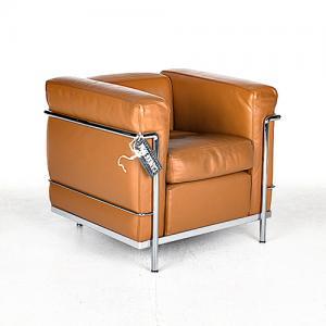 cassina lc2 fauteuil cognac