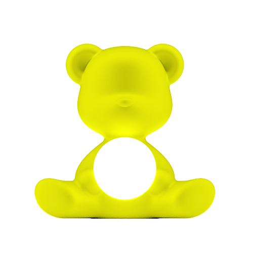 qeeboo teddy girl lamp lime
