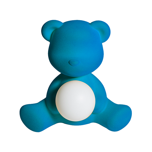 qeeboo teddy girl velvet blauw