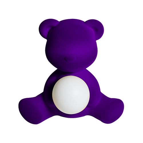 qeeboo teddy girl velvet lamp paars