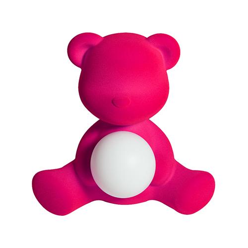 qeeboo teddy girl velvet lamp