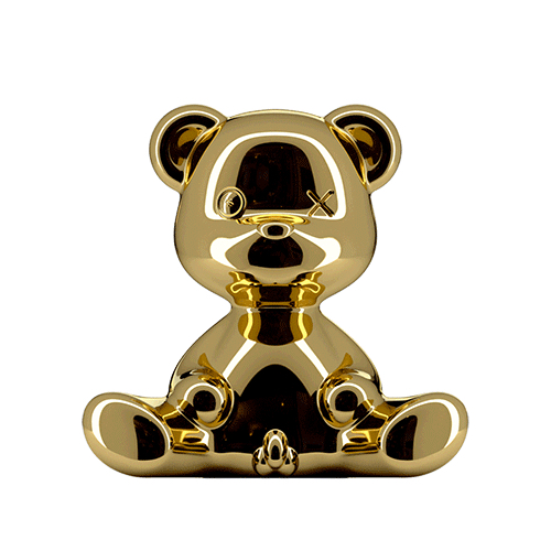 qeeboo teddy boy lamp goud
