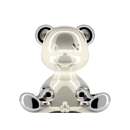 qeeboo teddy boy lamp zilver