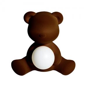 qeeboo teddy girl velvet lamp bruin