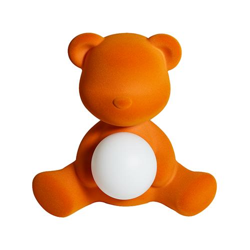qeeboo teddy girl velvet lamp oranje