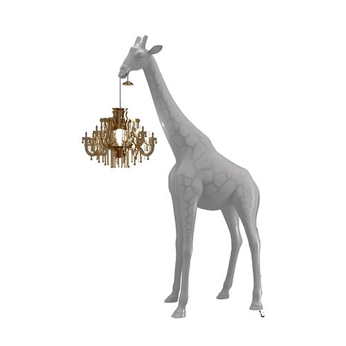 qeeboo giraffe lamp grijs