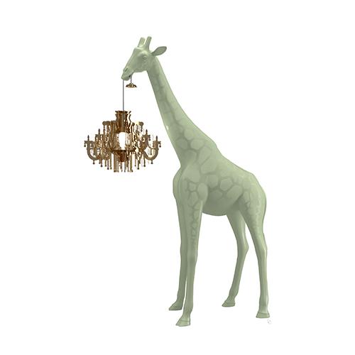 qeeboo giraffe lamp groen