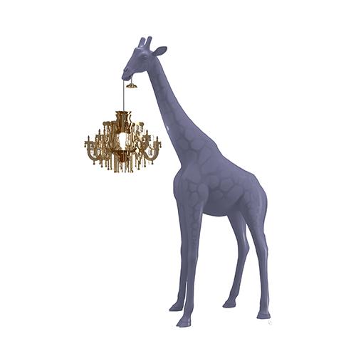 qeeboo giraffe lamp paars