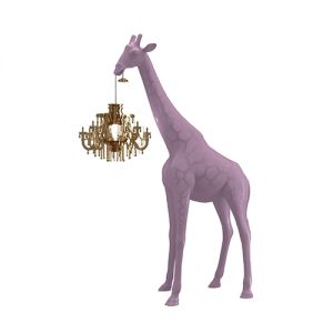 qeeboo giraffe lamp roze