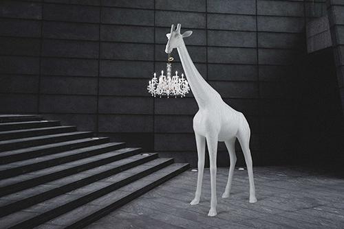 qeeboo giraffe lamp 4 meter