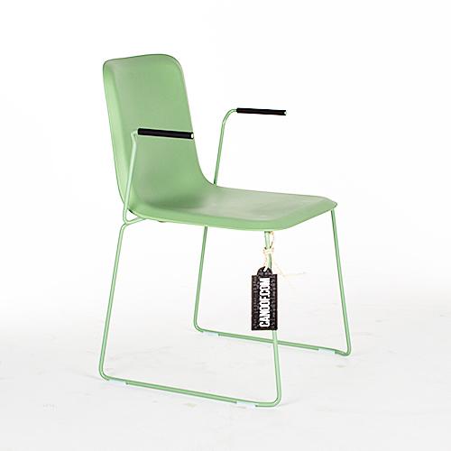 lensvelt that chair groen armleunigen