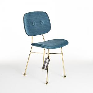 moooi golden chair blauw