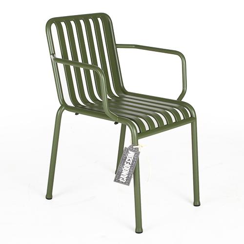 Hay Palissade stoel armleuningen groen