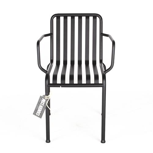Hay Palissade stoel armleuningen zwart