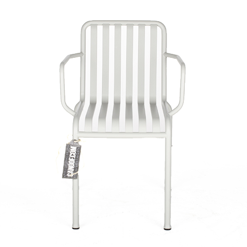 Hay palissade stoel armleuningen lichtgrijs