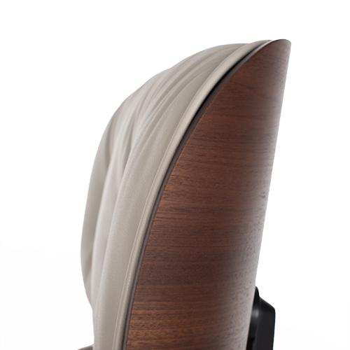 Vitra Eames Lounge Chair en Ottoman mahoniehout grijs